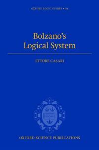 Bolzano's Logical System