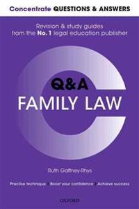 Concentrate Questions and Answers Family Law