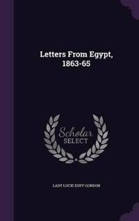 Letters from Egypt, 1863-65