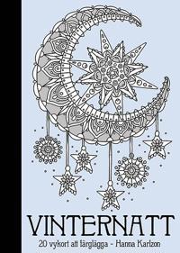 Vinternatt : 20 vykort att färglägga