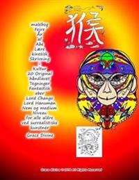 Malebog Fejre År AF Abe Lære Kinesisk Skrivning + Kultur 20 Original Håndlavet Tegninger Fantastisk Aber Lord Chango Lord Hanuman Nem Og Medium Niveau