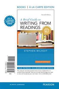 Brief Guide to Writing from Readings, A, Books a la Carte Edition, MLA Update Edition