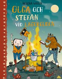 Olga och Stefan vid lägerelden