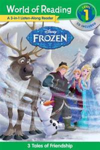 World of Reading: Frozen Frozen 3-In-1 Listen-Along Reader (World of Reading Level 1): 3 Royal Tales with CD! [With Audio CD]