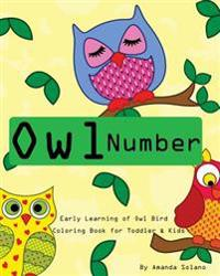 Toddler Color Books: Owl Number Early Learning Kids: Fun First Numbers, Baby Activity Book for Kids Age 1-6, Boys or Girls, Fun Early Learn