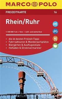 MARCO POLO Freizeitkarte 16 Rhein, Ruhr 1 : 100 000