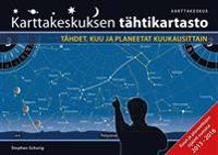 Karttakeskuksen tähtikartasto : Tähdet, kuu ja planeetat kuukausittain
