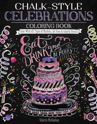 Chalk-Style Celebrations Coloring Book