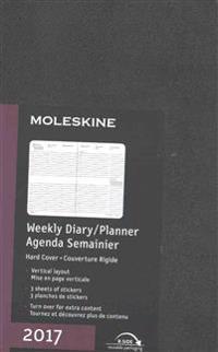 Moleskine 2017 Weekly Diary/Planner, Agenda Semainier, Vertical, 12m, A4, Black