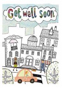 Street - Get Well Colouring Card-Book