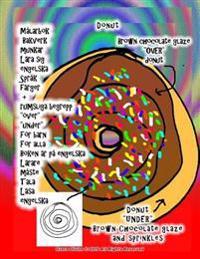 """Malarbok Bakverk Munkar Lara Sig Engelska Sprak Farger + Rumsliga Begrepp """"Over"""" """"Under"""" for Barn for Alla Boken AR Pa Engelska Larare Maste Tala Lasa"""