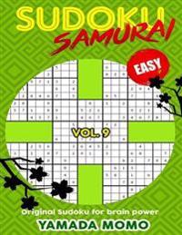 Sudoku Samurai Easy: Original Sudoku for Brain Power Vol. 9: Include 500 Puzzles Sudoku Samurai Easy Level