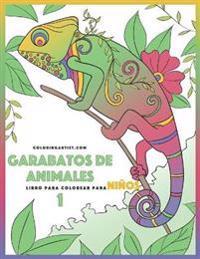 Garabatos de Animales Libro Para Colorear Para Ninos 1