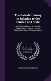 The Salvation Army in Relation to the Church and State