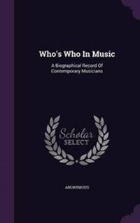 Who's Who in Music