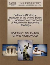 Beilenson (Norton) V. Treasurer of the United States U.S. Supreme Court Transcript of Record with Supporting Pleadings
