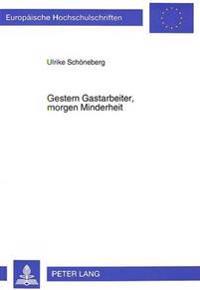 Gestern Gastarbeiter, Morgen Minderheit: Zur Sozialen Integration Von Einwanderern in Einem -Unerklaerten- Einwanderungsland