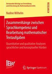 Zusammenhange Zwischen Sprachkompetenz Und Bearbeitung Mathematischer Textaufgaben