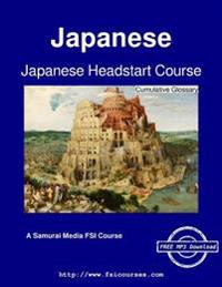 Japanese Headstart Course - Cumulative Glossary