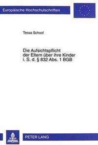 Die Aufsichtspflicht Der Eltern Ueber Ihre Kinder I. S. D. 832 ABS. 1 Bgb