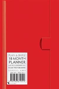 Red Pocket+ Plain & Simple 18 Month Planner 2017