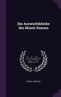 Die Auswurfsblocke Des Monte Somma