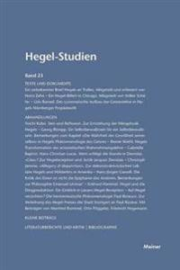 Hegel-Studien / Hegel-Studien Band 23 (1988)