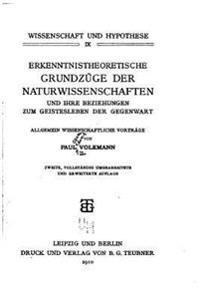 Erkenntnistheoretische Grundzuge Der Naturwissenschaften