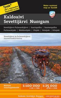 Kaldoaivi Sevettijärvi Nuorgam tunturikartta 1:100 000/1:25 000