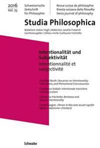 Intentionalitat Und Subjektivitat: Intentionnalite Et Subjectivite