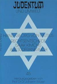 Rechtsentscheide Isaak Kimchis Aus Suedfrankreich: 2. Halbband