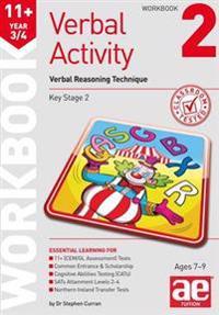 11+ verbal activity year 3/4 workbook 2 - verbal reasoning technique