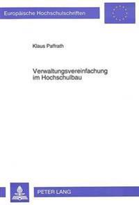 Verwaltungsvereinfachung Im Hochschulbau