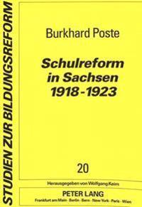Schulreform in Sachsen 1918-1923