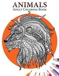 Animals: Adult Coloring Book