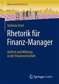 Rhetorik F r Finanz-Manager