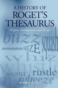 A History Of Roget's Thesaurus
