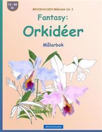 Brockhausen Målarbok Vol. 3 - Fantasy: Orkidéer: Målarbok