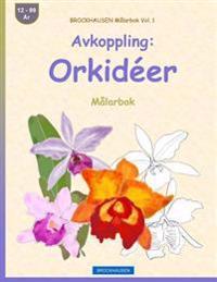Brockhausen Målarbok Vol. 1 - Avkoppling: Orkidéer: Målarbok