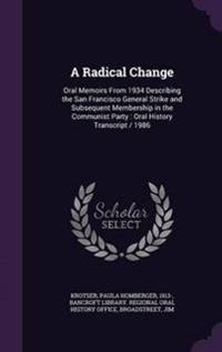 A Radical Change