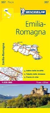 Emilia Romagna Michelin 357 delkarta Italien : 1:200000