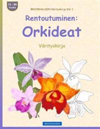 Brockhausen Varityskirja Vol. 1 - Rentoutuminen: Orkideat: Varityskirja