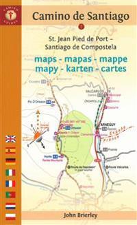 Camino Guides De Santiago Maps 2017