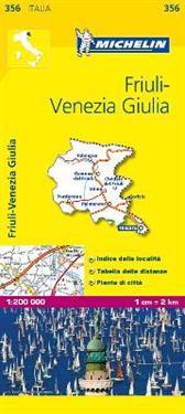 Friuli Venezia Giulia Michelin 356 delkarta Italien : 1:200000