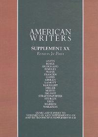 American Writers Supplement XX