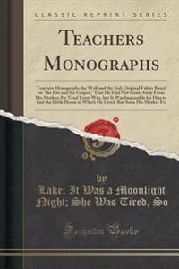 Teachers Monographs