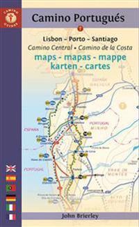 Camino Portuguas Maps - Mapas - Mappe - Karten: Lisboa - Porto - Santiago / Camino Central - Camino de la Costa