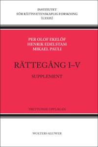 Rättegång I-V : supplement