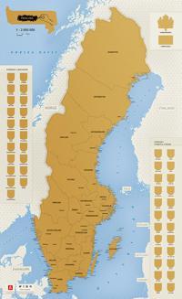 Sverige - Skrapkarta