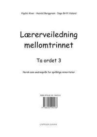 Ta ordet 3 - Vigdis Alver, Harald Berggreen, Inga-Britt Veland pdf epub